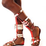 Calf High Flat Gladiator Sandals