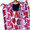 Mikoko Africa Print Silk Cover Up & Pants