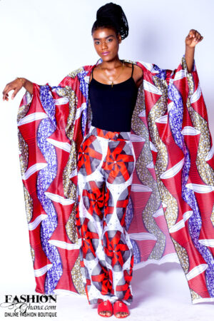 Mikoko Africa Print Silk Cover Up & Pants